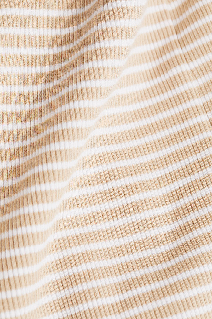 Striped rib jersey top, SAND, detail image number 4