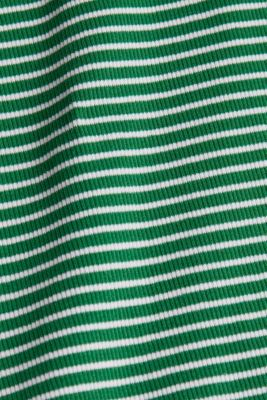 Striped rib jersey top, GREEN, detail