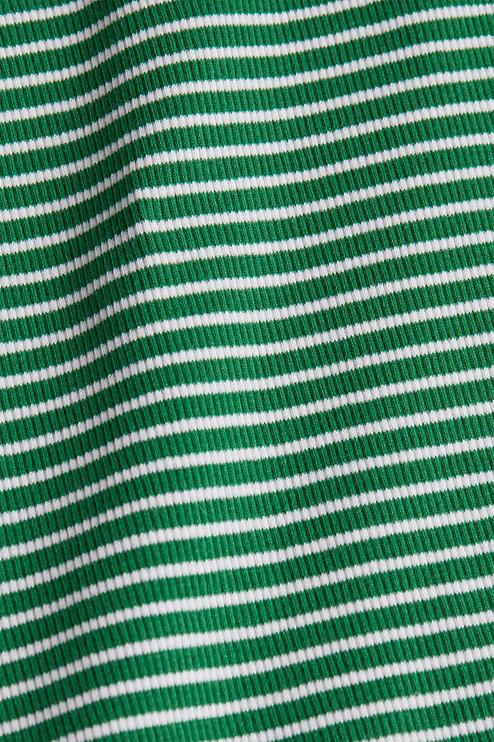 Striped rib jersey top, GREEN, detail image number 4
