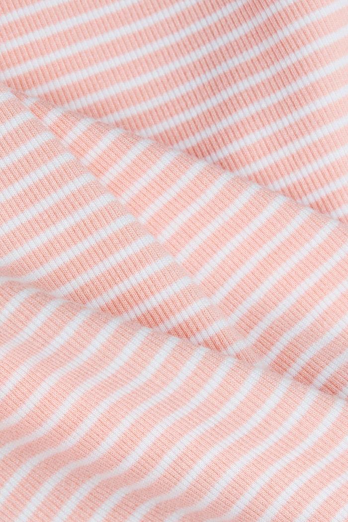 Striped rib jersey top, SALMON, detail image number 4