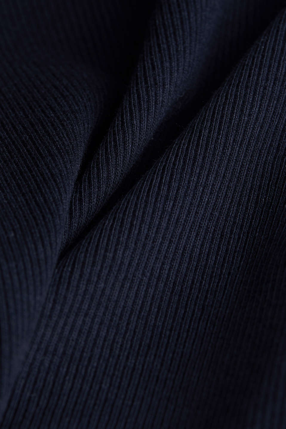 Ribbed jersey sleeveless top, BLACK, detail image number 4