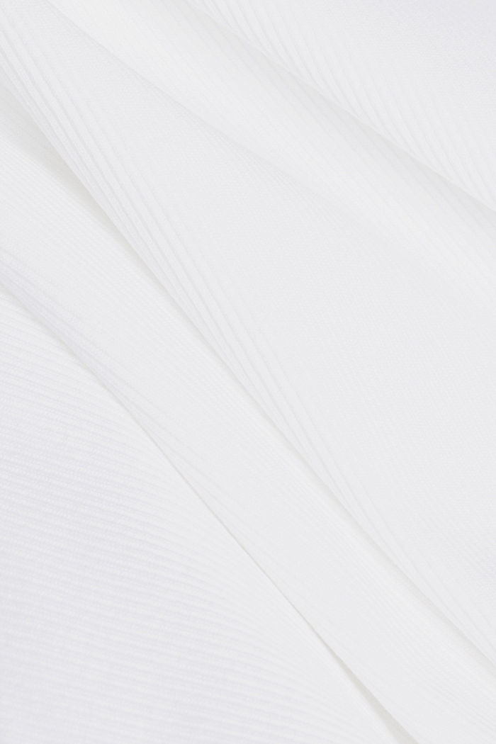 Ribbed jersey sleeveless top, WHITE, detail image number 4