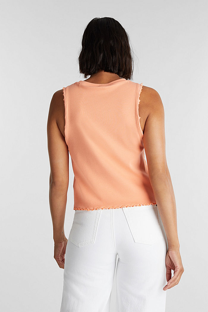 Ribbed jersey sleeveless top, SALMON, detail image number 3