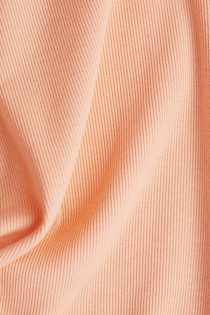 Ribbed jersey sleeveless top, SALMON, detail image number 4