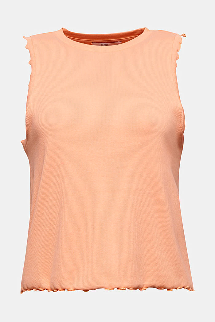 Ribbed jersey sleeveless top, SALMON, detail image number 6