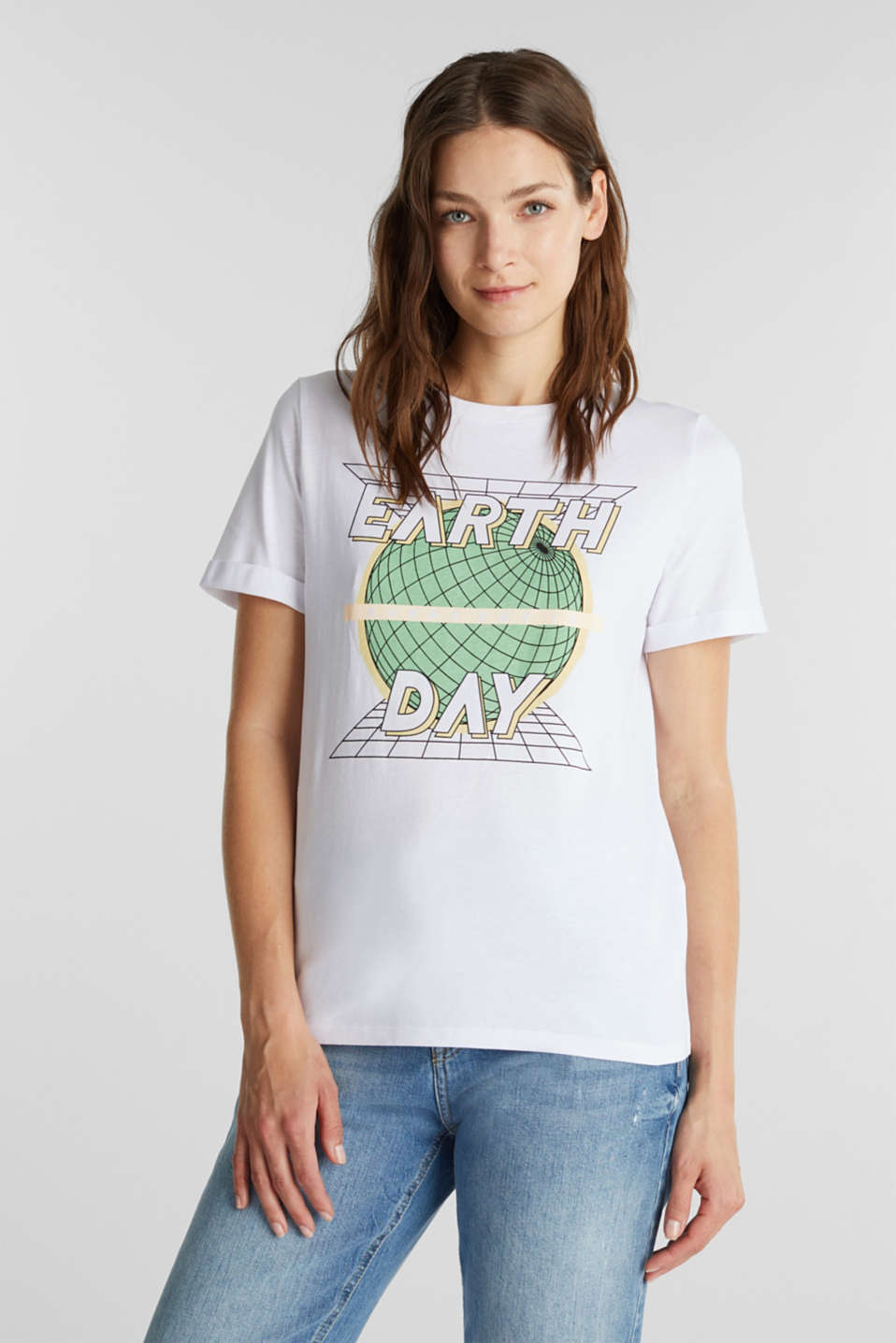 edc - Printed T-shirt in 100% organic cotton