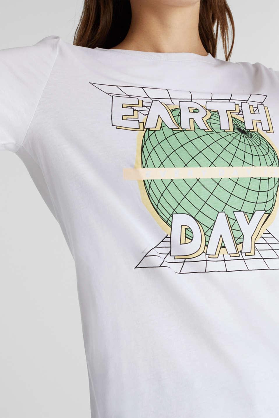 Printed T-shirt in 100% organic cotton, WHITE, detail image number 2