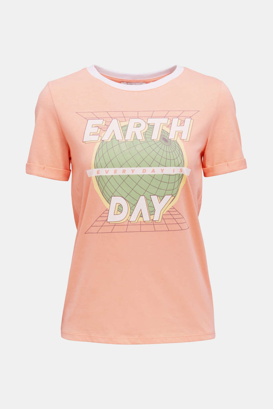 Printed T-shirt in 100% organic cotton, SALMON, detail image number 5