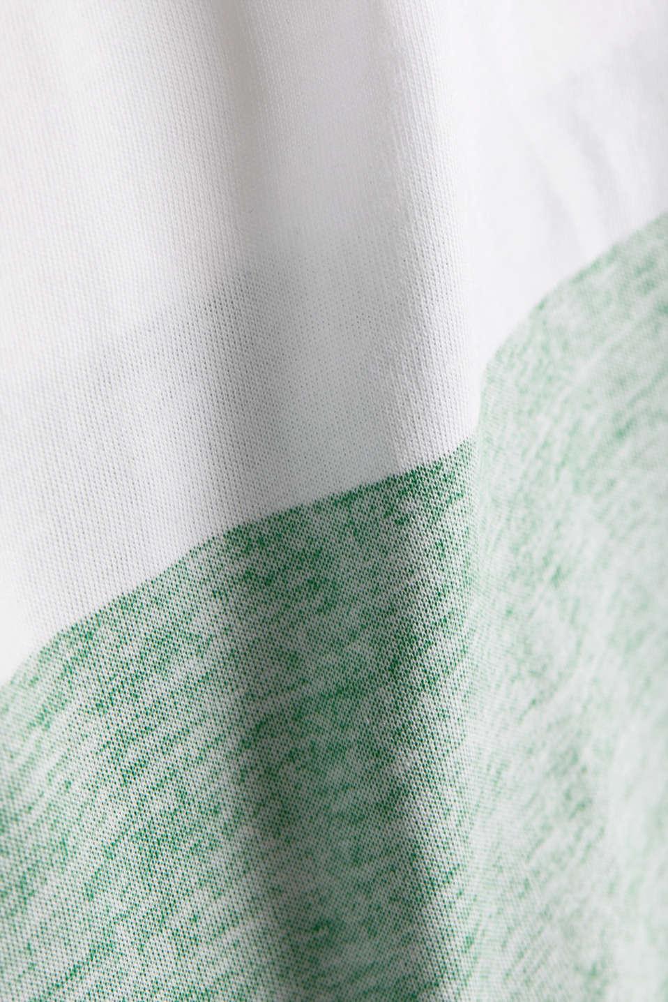 Organic cotton T-shirt in a block stripe design, GREEN, detail image number 4