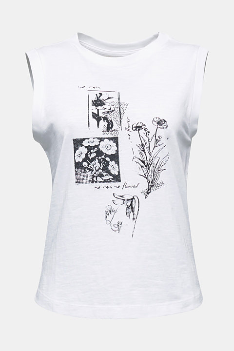 Printed top made of 100% organic cotton