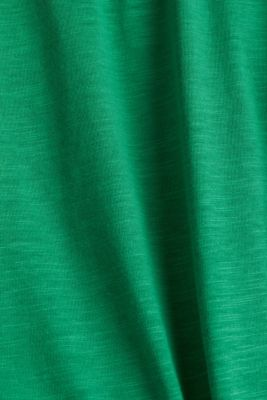 Cropped top in 100% organic cotton, GREEN, detail