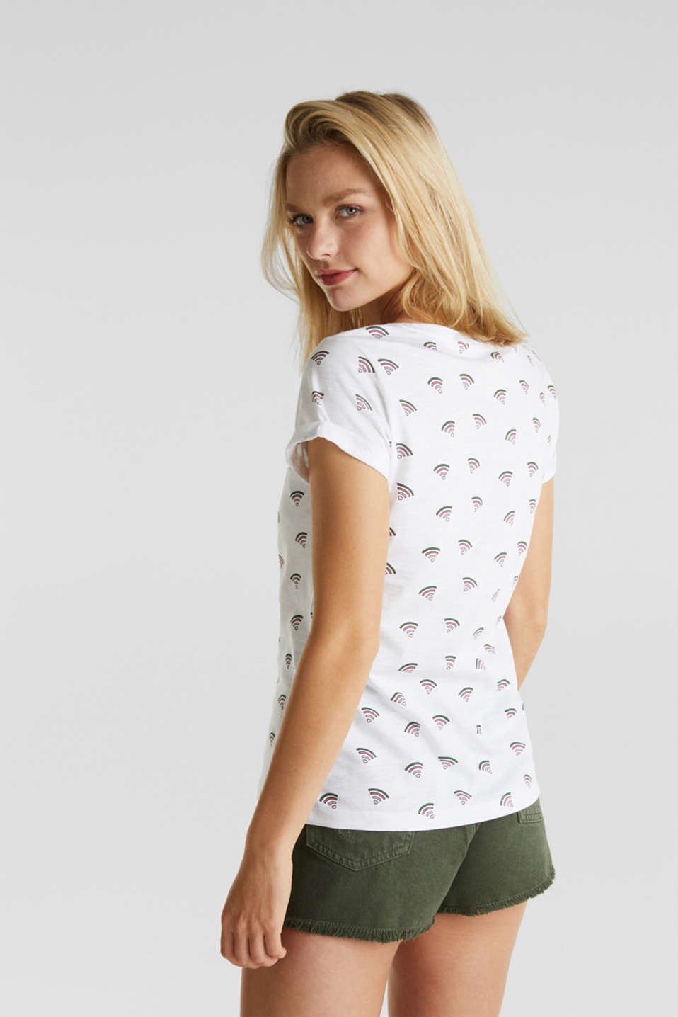 Printed T-shirt in 100% organic cotton, WHITE, detail image number 3