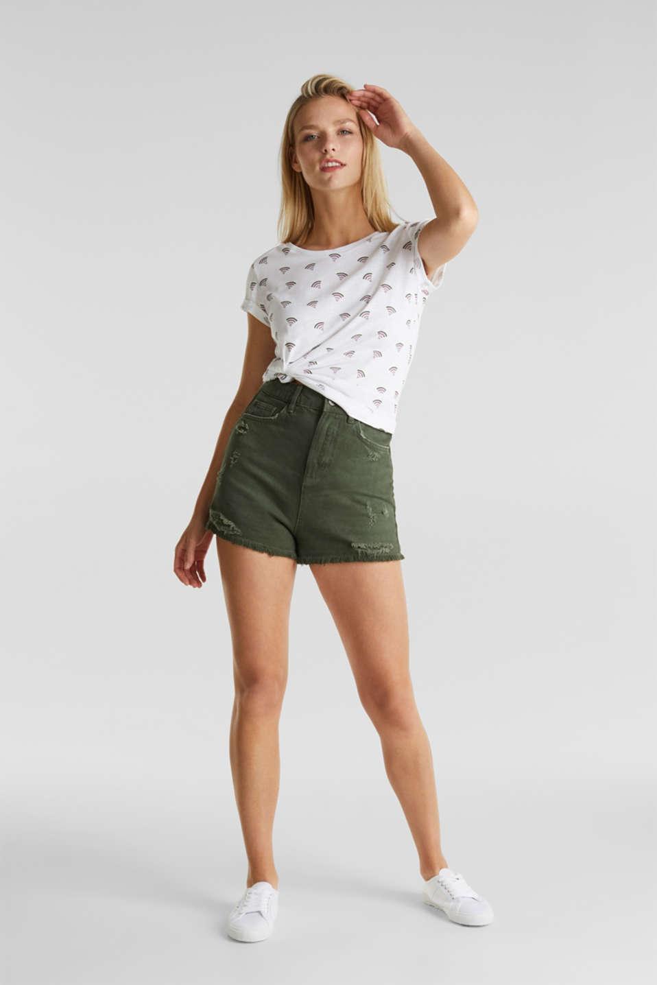 Printed T-shirt in 100% organic cotton, WHITE, detail image number 1