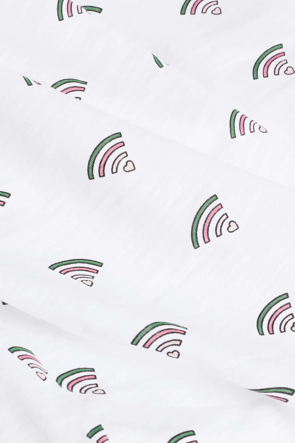Printed T-shirt in 100% organic cotton, WHITE, detail image number 4