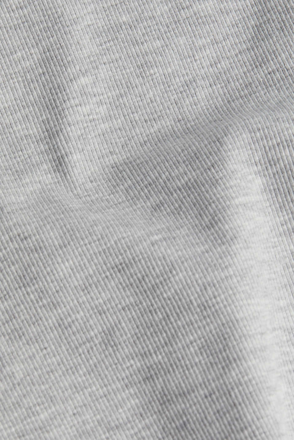 Ribbed jersey top with organic cotton, LIGHT GREY 5, detail image number 4