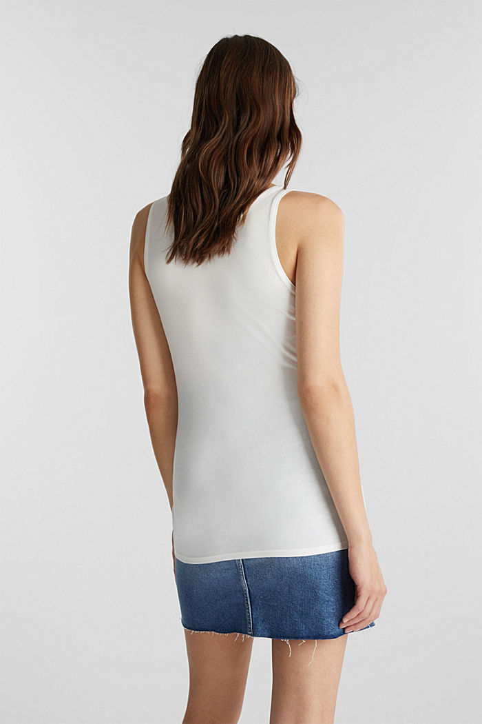Organic cotton sleeveless top, OFF WHITE, detail image number 3