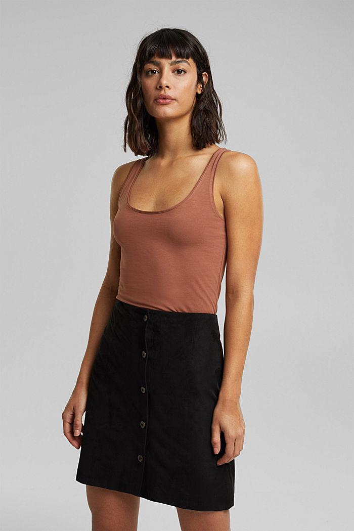 Organic cotton sleeveless top, CARAMEL, detail image number 0