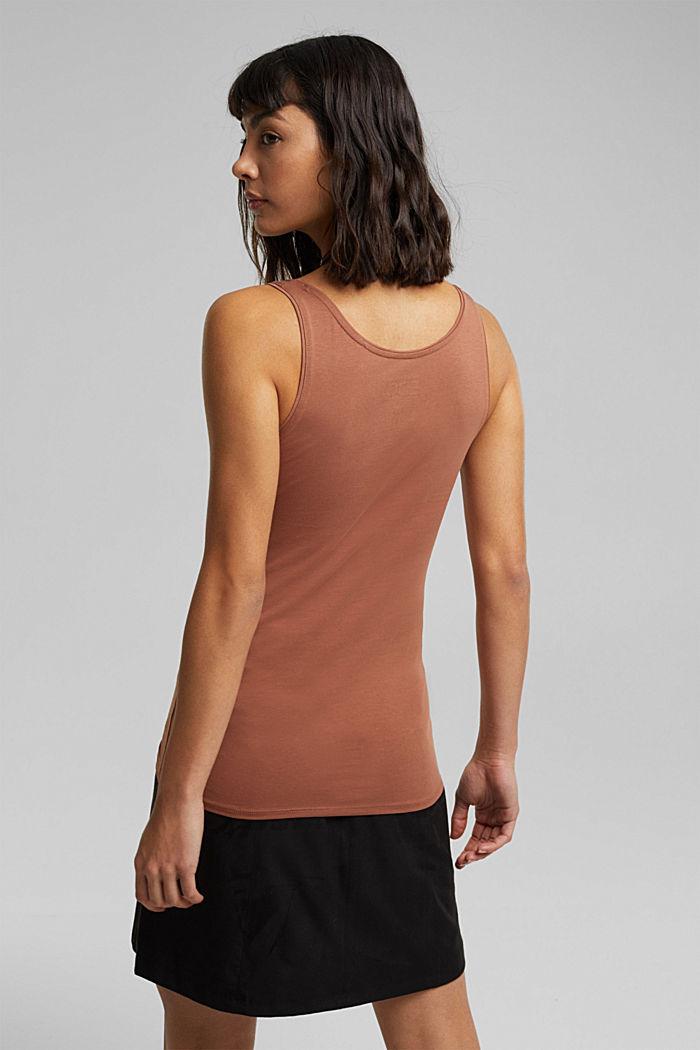 Organic cotton sleeveless top, CARAMEL, detail image number 3
