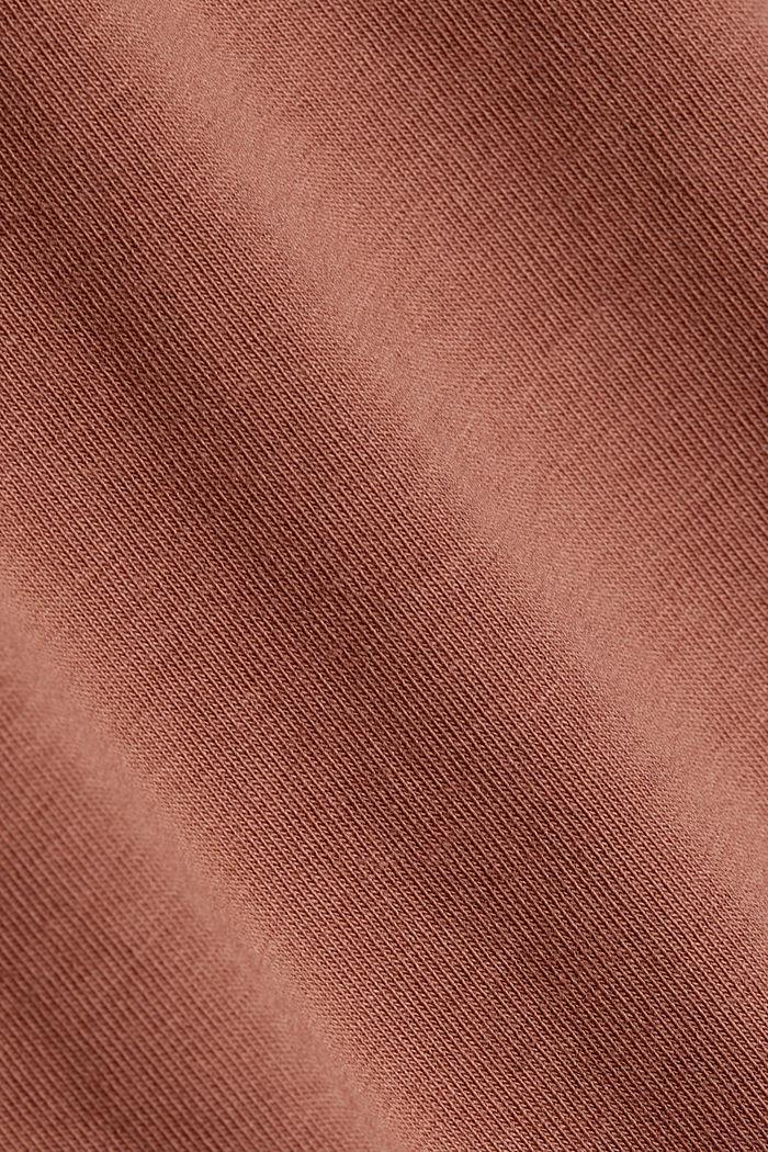 Organic cotton sleeveless top, CARAMEL, detail image number 4