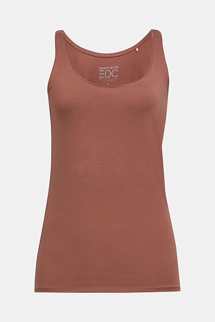 Organic cotton sleeveless top, CARAMEL, detail image number 5