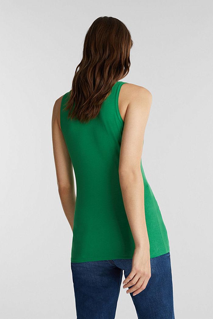 Organic cotton sleeveless top, GREEN, detail image number 3