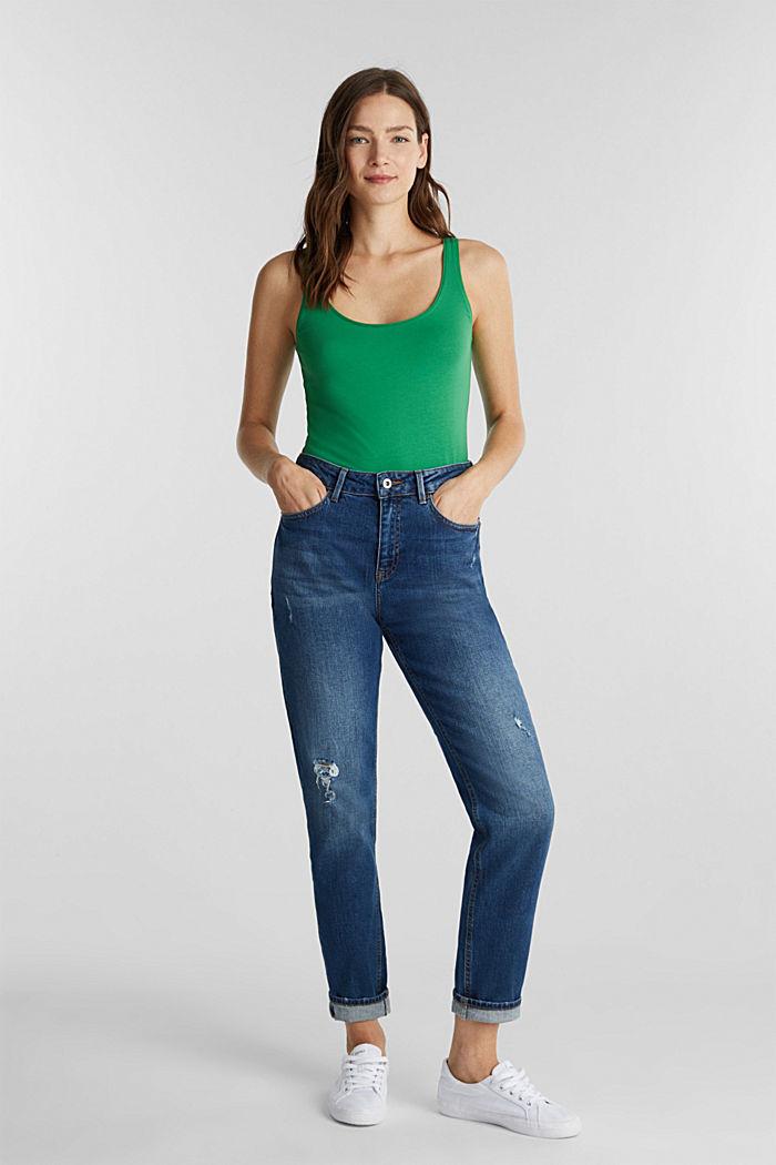 Organic cotton sleeveless top, GREEN, detail image number 1