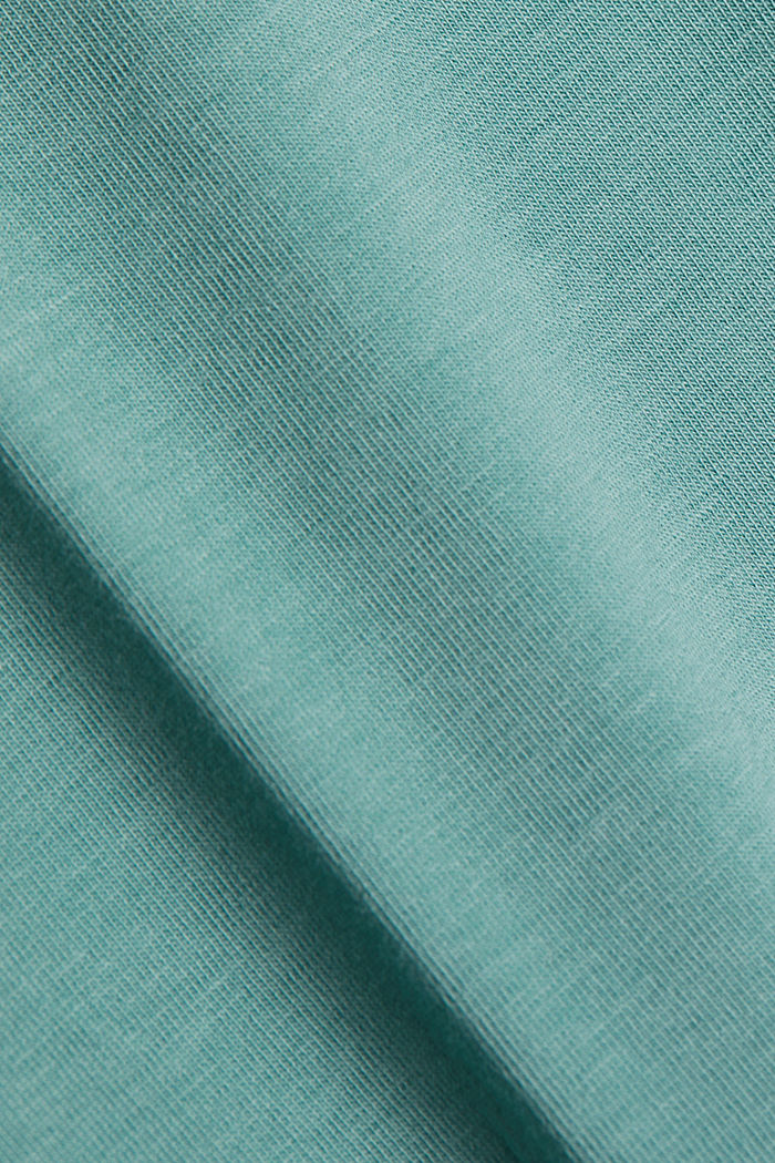Organic cotton sleeveless top, DUSTY GREEN, detail image number 4