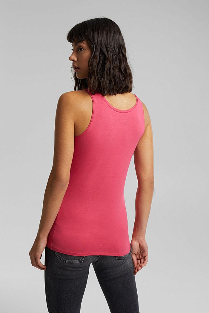 Organic cotton sleeveless top, BLUSH, detail image number 3