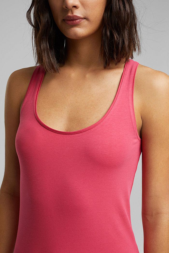 Organic cotton sleeveless top, BLUSH, detail image number 2