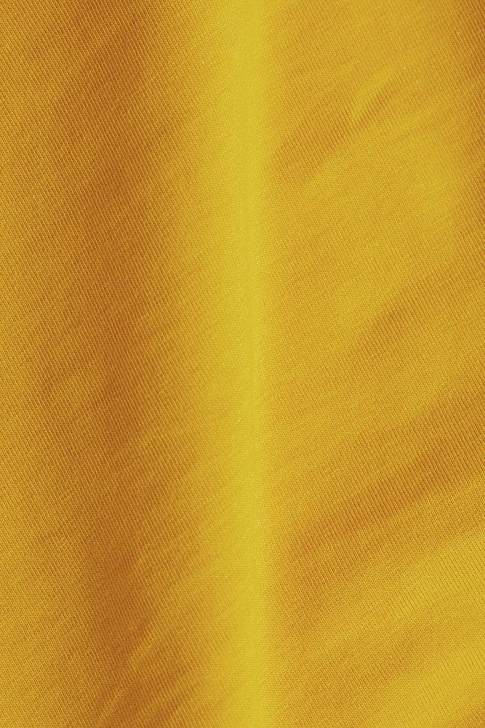Organic cotton sleeveless top, BRASS YELLOW, detail image number 4
