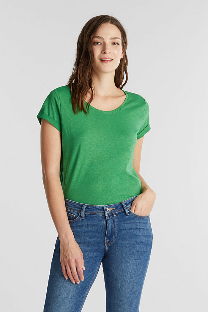Jersey top made of 100% organic cotton, GREEN, detail image number 0