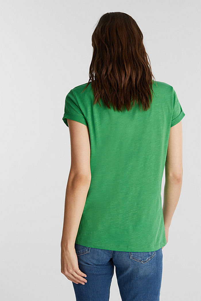 Jersey top made of 100% organic cotton, GREEN, detail image number 3