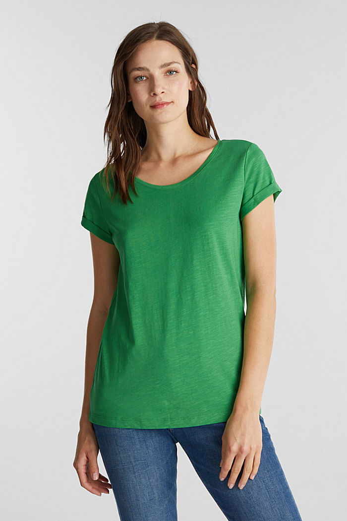 Jersey top made of 100% organic cotton, GREEN, detail image number 5