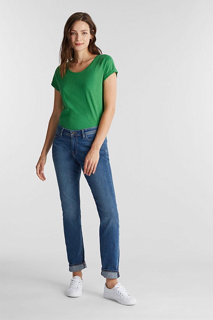 Jersey-Shirt aus 100% Organic Cotton, GREEN, detail image number 1
