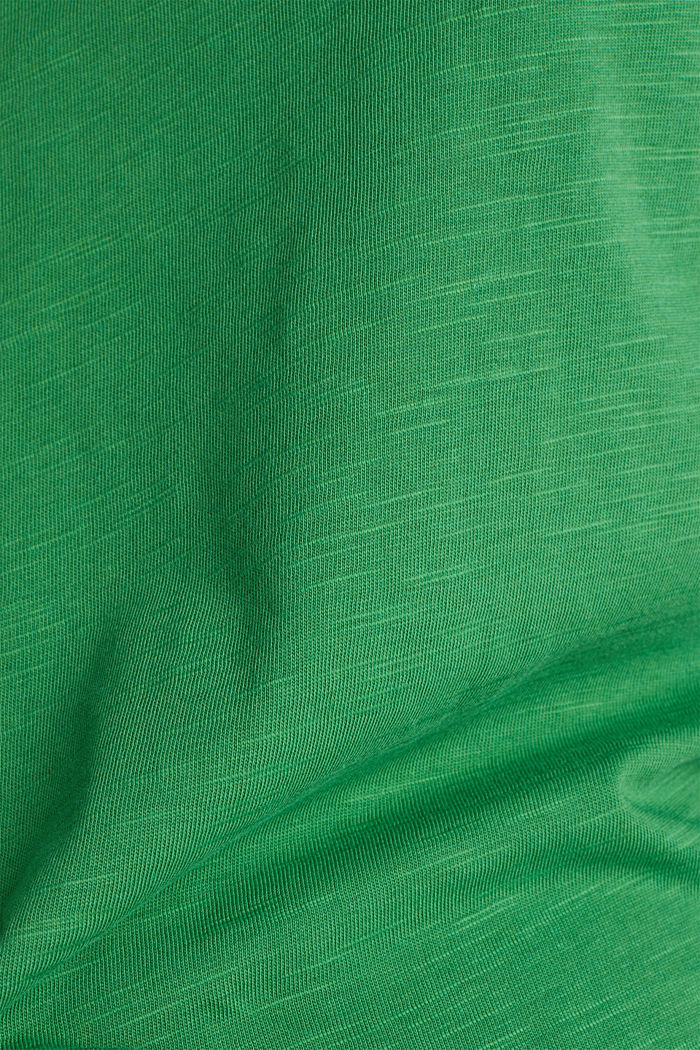 Jersey top made of 100% organic cotton, GREEN, detail image number 4