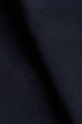 T-shirt with a square neckline, BLACK, detail