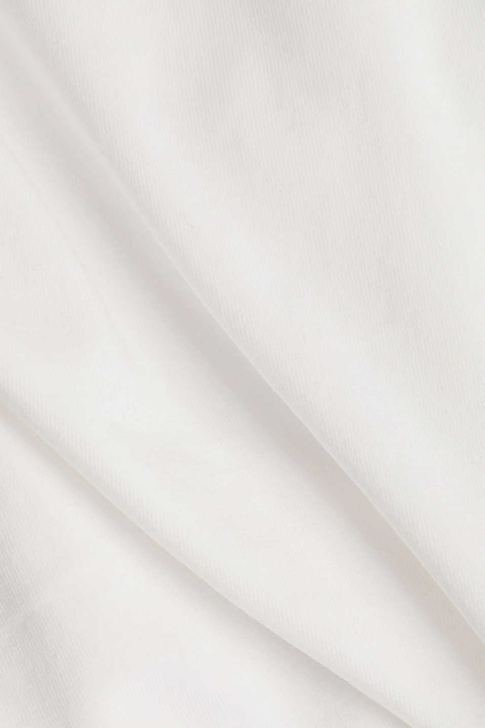 T-shirt with a square neckline, OFF WHITE, detail image number 4