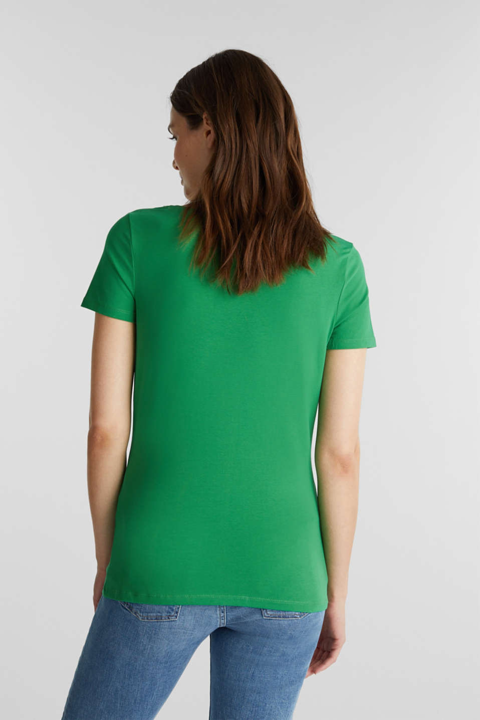 T-shirt with a square neckline, GREEN, detail image number 3