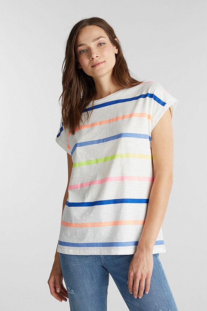 Jersey-Shirt aus 100% Organic Cotton, OFF WHITE, detail image number 0