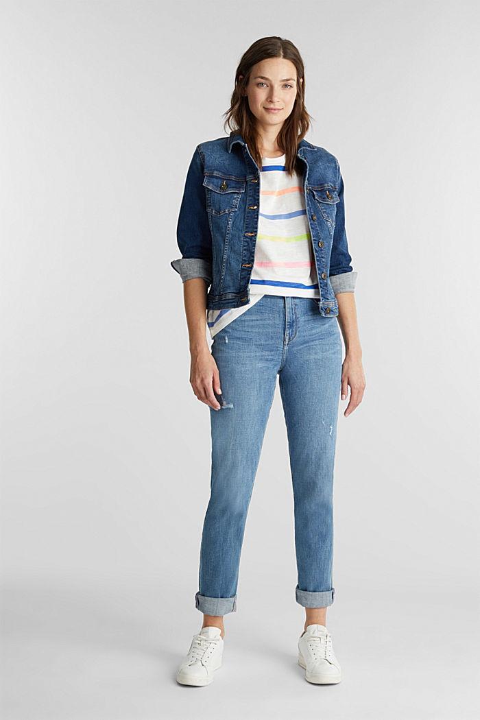 Jersey-Shirt aus 100% Organic Cotton, OFF WHITE, detail image number 1