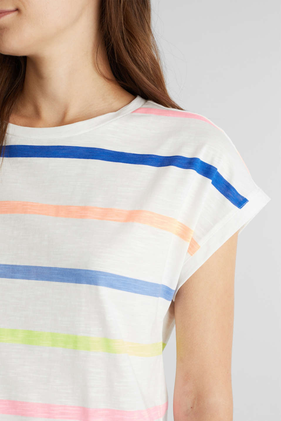 Jersey top made of 100% organic cotton, OFF WHITE, detail image number 2