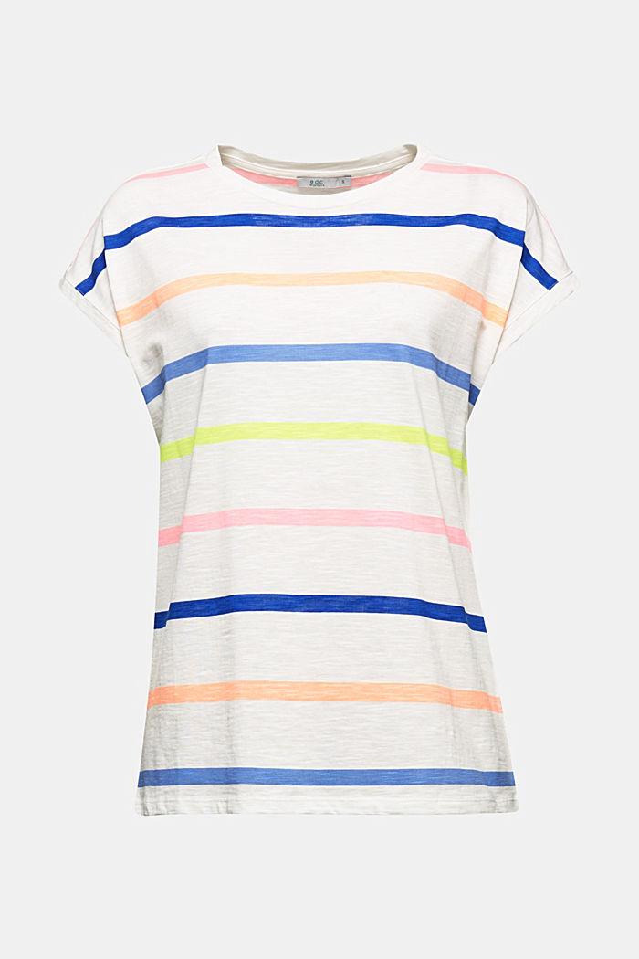Jersey-Shirt aus 100% Organic Cotton, OFF WHITE, detail image number 5