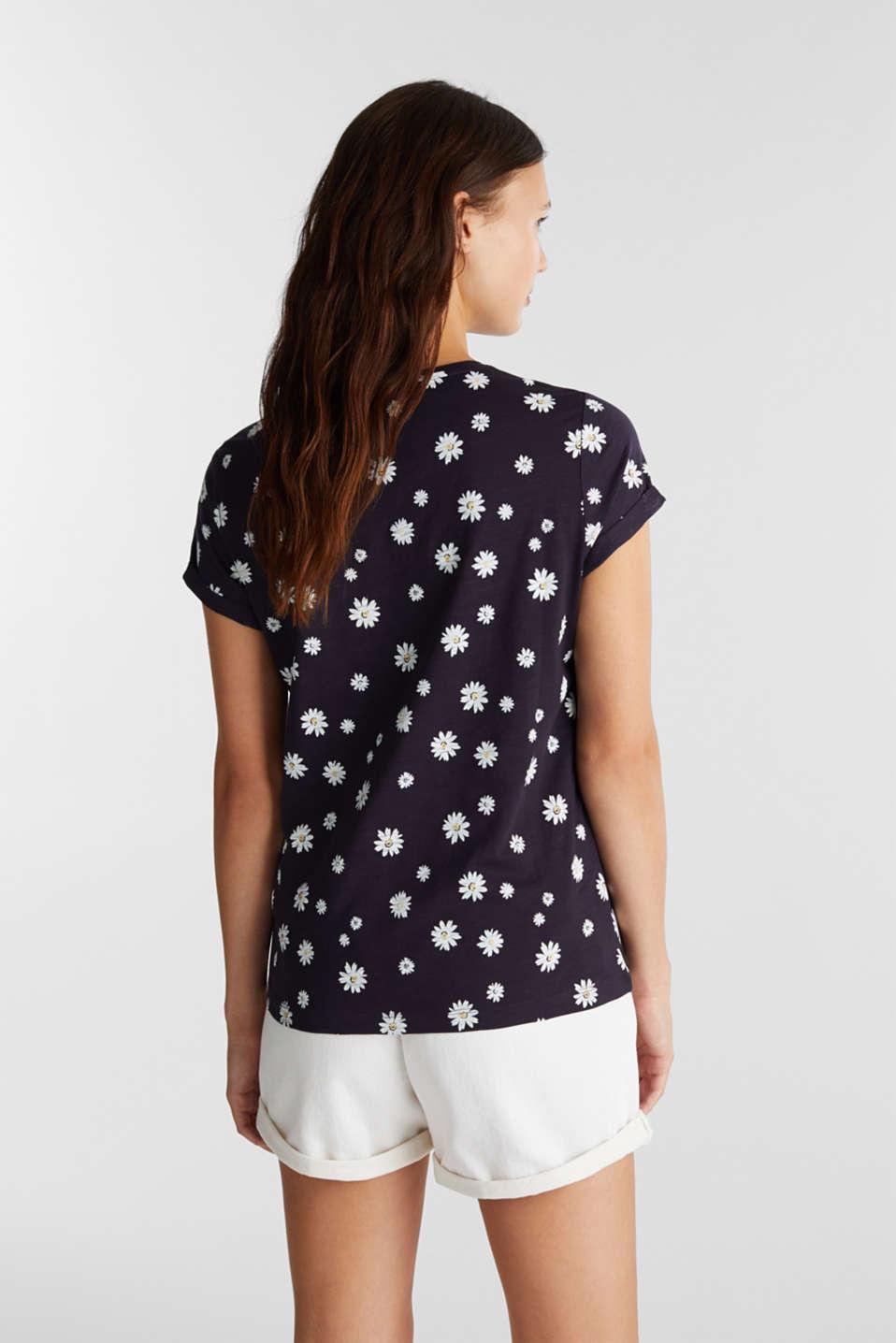 Print T-shirt, 100% organic cotton, NAVY, detail image number 3