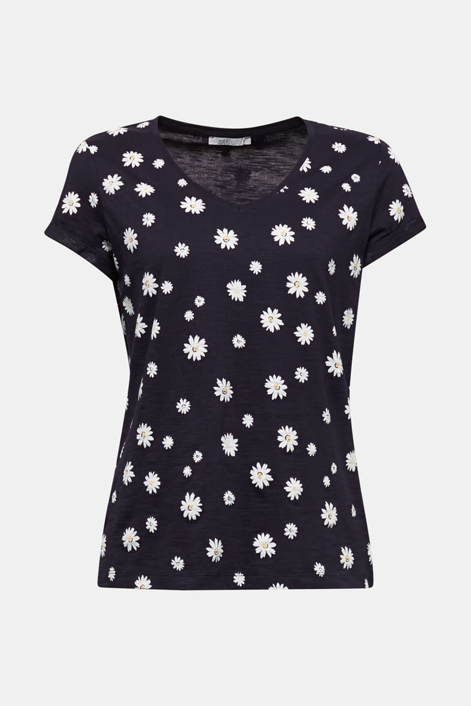 Print T-shirt, 100% organic cotton, NAVY, detail image number 6