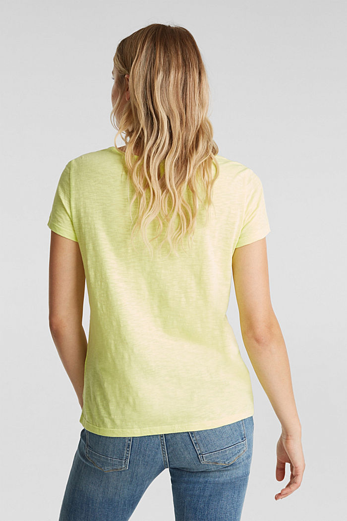 Maglia in jersey con inserto in pizzo, LIME YELLOW, detail image number 3