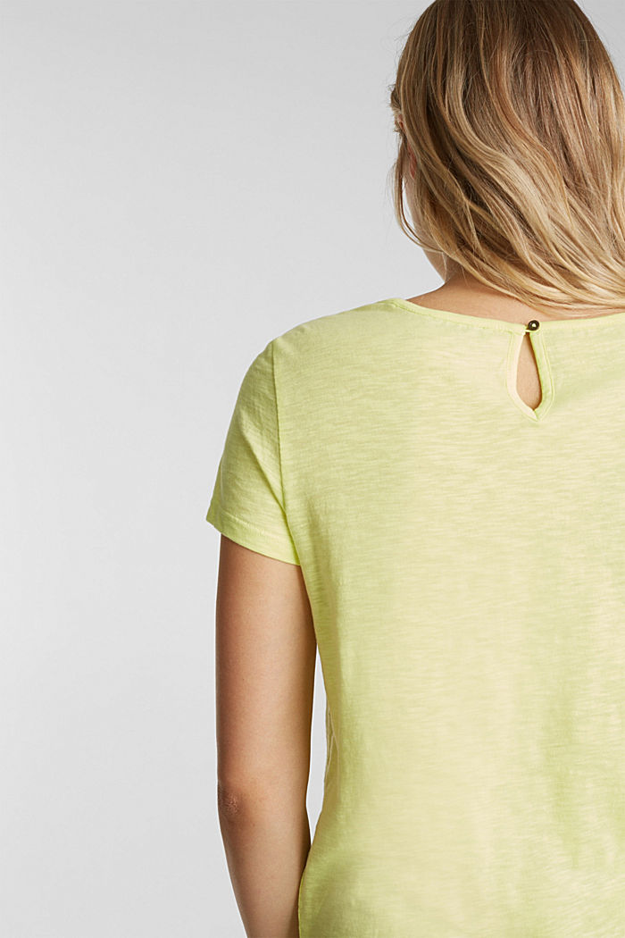 Maglia in jersey con inserto in pizzo, LIME YELLOW, detail image number 5