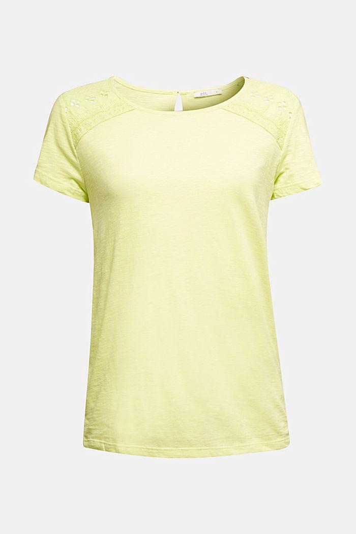 T-shirt en jersey à empiècement en dentelle
