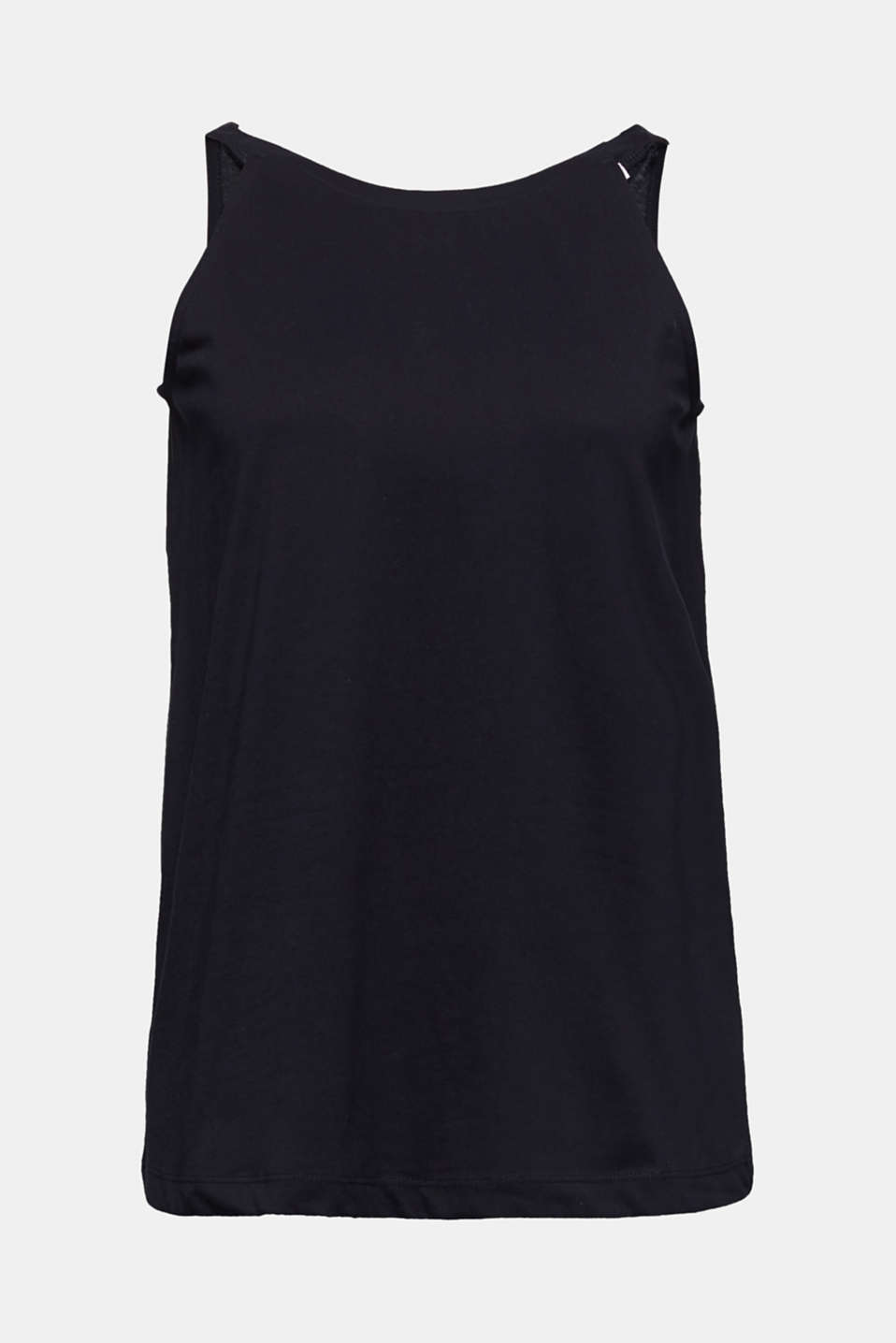 Jersey top made of 100% organic cotton, BLACK, detail image number 5