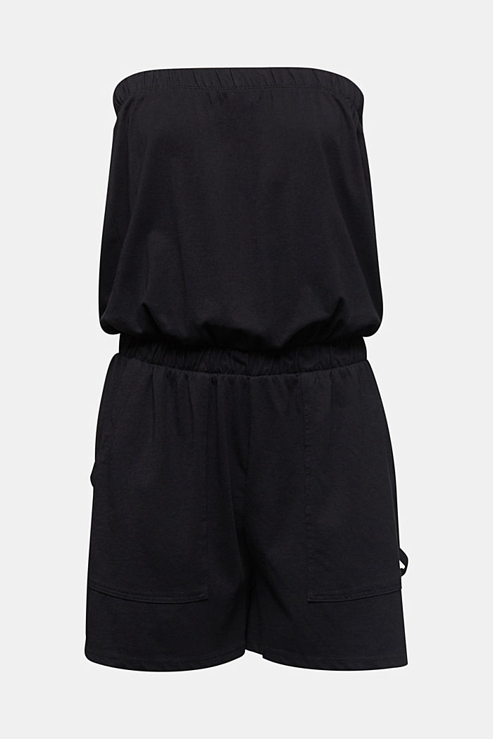 Jersey jumpsuit made of 100% cotton, BLACK, detail image number 5