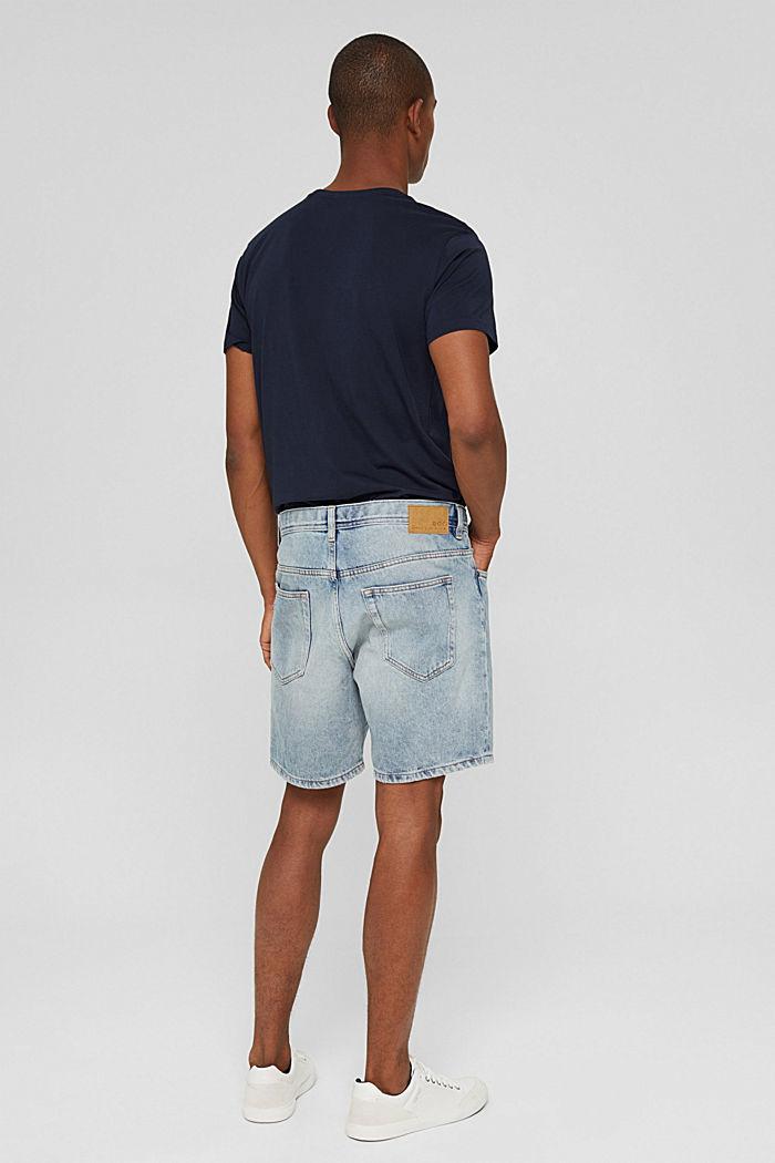 Denim Shorts, BLUE LIGHT WASHED, detail image number 3